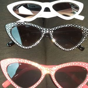 Rhinestone Cat eye shape sunglasses